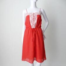 BLESS'ED ARE THE MEEK Red and White Polka Dot Shift Dress Size 8 US 4