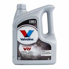Valvoline VR1 Fully Synthetic Racing Engine Oil 5w50  Oil 4L / 4 Litres
