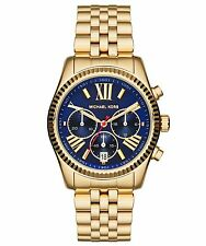NEW MICHAEL KORS MK6206 LADIES NAVY GOLD LEXINGTON WATCH - 2 YEAR WARRANTY