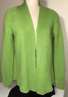 Liz Claiborne womens cardigan sweater knit apple green size L