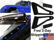 "GS Power's Jeep 50"" Curved LED Light Bar Brackets for 1984 - 2001 Cherokee XJ"