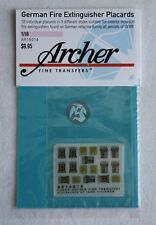 Archer 1/16 Tetra German Fire Extinguisher Placards AFV & Vehicles WWII AR16014