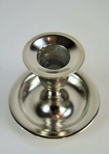 Candle Wee Willy Winky Candle Stick Holder Drip Tray Silver Metal x 2