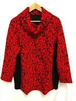 Goldner Schnitt Atelier Women's Long Sleeve Roll Neck Red Camo Pullover Top
