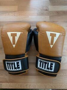 Title Vintage Leather Boxing Gloves 12oz