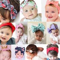 Cute Girls Kids Baby Toddler Turban Knot Rabbit Headband Bow Hairband Head Band