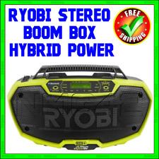 RYOBI 18 Volt Stereo Boom Box Hybrid Power ONE+ Bluetooth Wireless AM/FM NIB