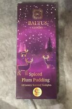 Baltus Pack Of 10 Spiced Plum Pudding Tealights Candles Festive Scented 4 Hour