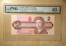 Canada BC-55b 1986 $2 Dollars Thiessen | Crow PMG 65 EPQ S/N BBP8395598