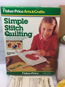 Rare Fisher Price # 737 Simple Stitch Quilting Pot Holder Trio, Arts & Crafts
