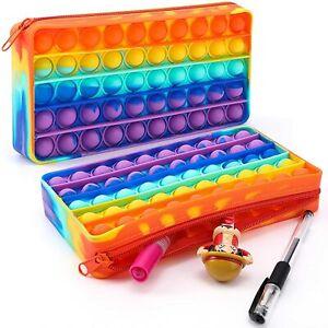 Push Pop Bubble Pencil Case Sensory Fidget Toy it Stress Relief Autism kids