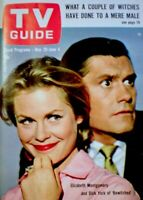 TV Guide 1965 Bewitched Elizabeth Montgomery Dick York Hitchcock NM/MT COA Rare