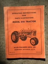 Allis-Chalmers D-14 Original Manual