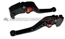 CNC Adjustable Shorty Brake Clutch Lever Black For Honda CBR 600 2007 - 2012
