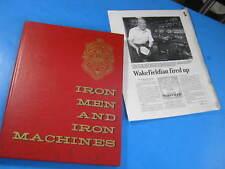 WAKEFIELD FIRE DEPT. IRON MEN HISTORY BOOK MASS 1976  WEIR
