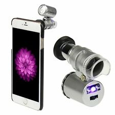 60X Zoom LED Phone Micro Camera Lens + Back Cover Case For iPhone 6 4.7 inch