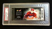 DYLAN LARKIN DETROIT RED WINGS DEBUT SIGNED TICKET 9/23/15 PSA/DNA NEAR-MT 7
