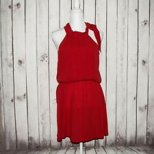 Cleobella Women's Red Lolita Mini Dress Shoulder wrap Sz Small 100% Rayon NWT