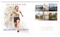 "2006 FDC Australia. Melbourne Olympics 50 years on. Pict.FDI  ""MELBOURNE"""
