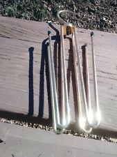 """11 1/2"""" Overall length Brass Belt Holder Closet Organizer"""
