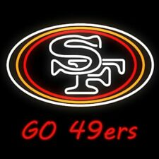 "San Francisco 49ers Go 49ers Neon Lamp Sign 20""x16"" Bar Light Beer Glass Display"