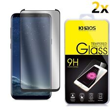2-PACK For Samsung Galaxy S8 CASE FRIENDLY 3D Full Cover Glass Screen Protector