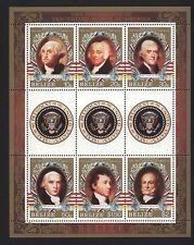 BELIZE PRESIDENT OOF THE UNITED STATES USA FOGLIETTO NUOVO GOMMA INTEGRA (556)