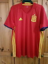 BIG SALE  Men's Spain Spanish  home football shirt jersey Size XL  Adidas 2016