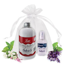 LOVE & DREAM - AROMATHERAPY BATH SALTS & PILLOW SPRAY GIFT SET