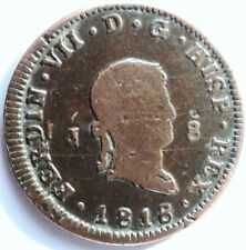 ESPAGNE FERDINAND VII.1818 .8 MARADEVIS .CUIVRE 31.9 MM .POIDS 9.91 GRAMMES