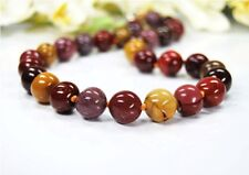 Beautiful Mookaite Necklace Irregular Round ø-12 mm