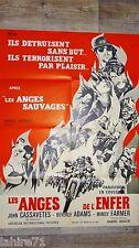 LES ANGES DE L'ENFER Devil's Angels  ! r corman affiche cinema moto harley 1967