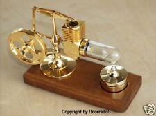 >vergoldet< HOG Stirling Heißluftmotor_Dampfmaschine Standmodell gold >NEU<
