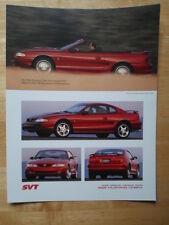 FORD Mustang Cobra 1996 Brochure Prospekt Catalogue-SVT