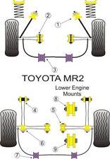 POWERFLEX BUSHES FRONT + REAR ENGINE MOUNT KIT TOYOTA MR2 SW20 1989 > 99