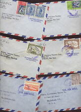 SALVADOR 1950s AIRMAIL COVERS to USA.13 COVERs
