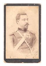 ANTIQUE REAL CDV PHOTO BULGARIA BULGARIAN KINGDOM ROYAL OFFICER MEDALS ORDERS x