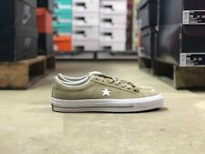Converse Chuck One Star Suede Ox Mens Low Top Shoe Tan/White 153965C NEW Sz 11