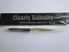 GENUINE KOLINSKY size 10 SABLE OVAL ACRYLIC LIQUID & POWDER NAIL BRUSH sculpting