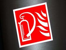 1 x Aufkleber Feuerlöscher Feuer Löscher Warnung Gefahr Sticker Alarm Löschen