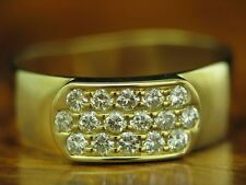 18kt 750 Yellow Gold Ring 0,32ct Brilliant Decorations/ Diamond/ 3,8g/ Rg 51