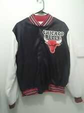VTG 90s CHICAGO BULLS CHALK LINE NBA JACKET M