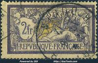 FRANCE TYPE MERSON N° 122 AVEC OBLITERATION COTE 90€