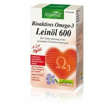 Alsiroyal Bioaktives Omega-3 Leinöl 600 Kapseln, vegan, 60 Stück