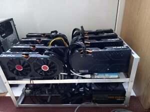 8 x RX 580 GPU MINING RIG RENTAL MINE ETHEREUM 241 MH/s 10h RENTAL TIME