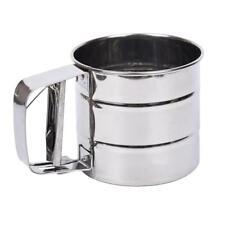 Pro Mehlsieb Edelstahl Kaffee Puderzucker Einhandsieb Küchensieb Werkzeug Neu