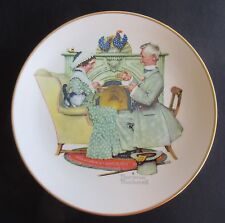 """Norman Rockwell """"Gaily Sharing Vintage Times"""" by Gorham - 10 5/8"""" Plate"""
