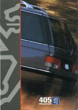 LATE PEUGEOT 405 ESTATE BROCHURE 4/1996 + SPEC BOOKLET STYLE LX GLX EXECUTIVE TD