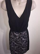 Women's Forever 21 Sleeveless Sheath Dress Size Small Black Gray Purple