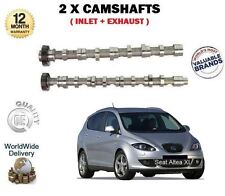 FOR SEAT ALTEA + XL 1.6 2.0 TDi 2004--> NEW INLET + EXHAUST 2X CAMSHAFT CAM SET